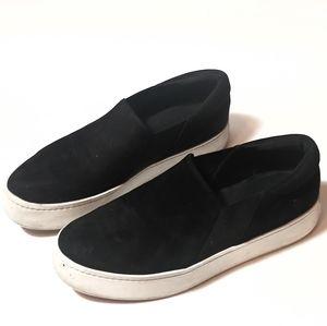 Vince black slip on loafers shoes Garvey 9.5